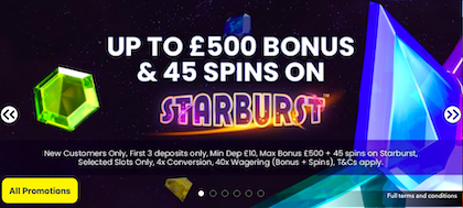casino slots welcome bonus promotion