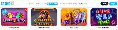 Top online slots real money games