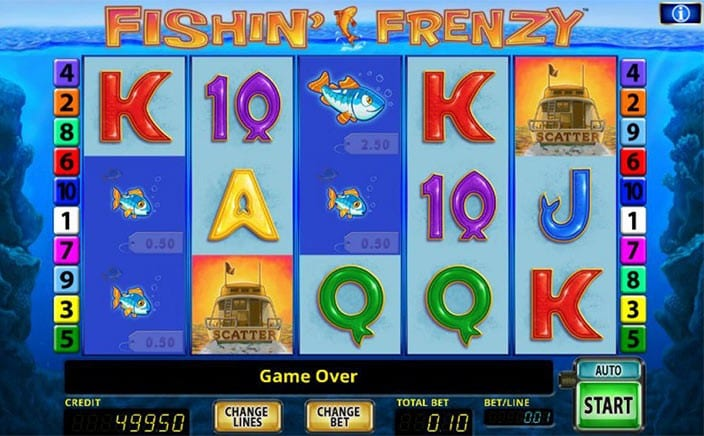 fishing frenzy online slots game at livecasino.ie