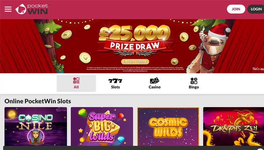 PocketWin Casino Online