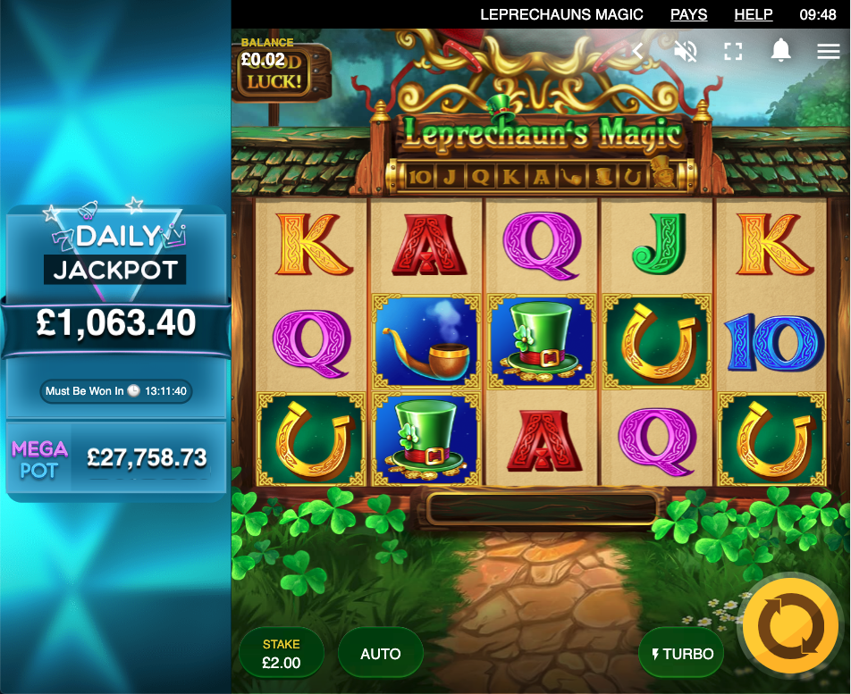 leprechaun's magic slots for cash